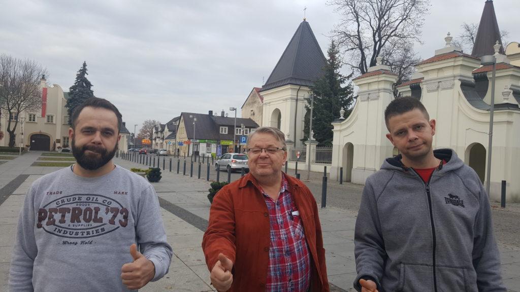 Leszek Bubel wraz z synami Karolem i Maciejem