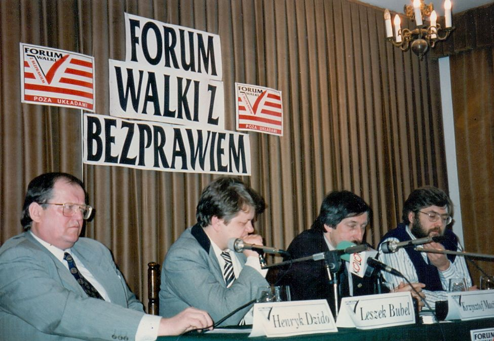 Konferencja prasowa Forum Walki z Bezprawiem