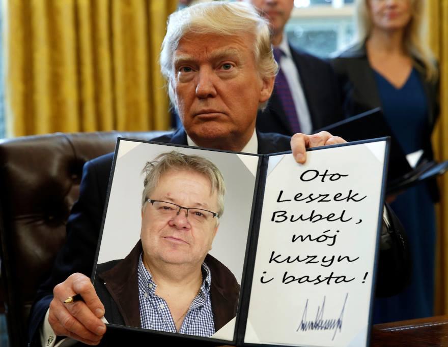 Leszek Bubel i Donald Trump