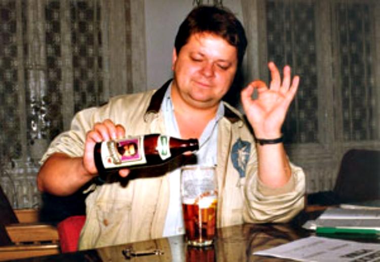 Piwo President nalewa Leszek Bubel