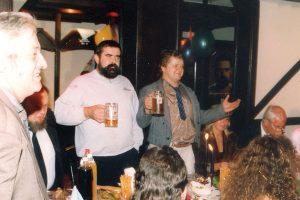 Od lewej prawnik Krzysztof Adamek, Janusz Rewiński, Leszek Bubel oraz Wowo Bielicki.